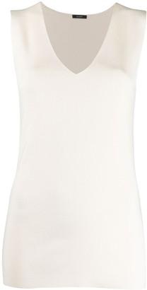 Joseph V-neck knitted vest top