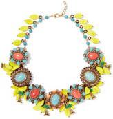 Erickson Beamon Copacabana Gold-plated, Crystal And Enamel Necklace - Yellow
