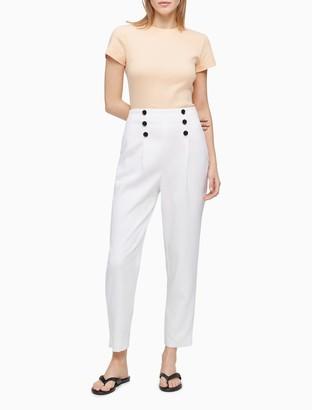 Calvin Klein Sailor Slim Fit Pleated Pants