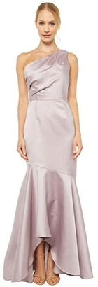 Adrianna Papell Mikado Long Gown (Marble) Women's Dress