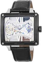 Burgmeister Men's Mechanical Hand Wind Stainless Steel and Leather Casual Watch, Color:Black (Model: BM234-602)