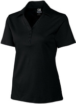 Cutter & Buck Black DryTec Luxe Element Jacquard Polo