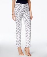 Charter Club Printed Side-Zip Ankle Pants, Only at Macy's