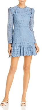 Aqua Mock Neck Lace Dress - 100% Exclusive