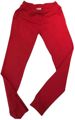 Anine Bing Red Cotton Trousers