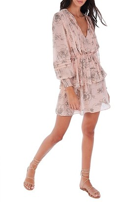 Allison New York Floral Tiered Tassel Dress
