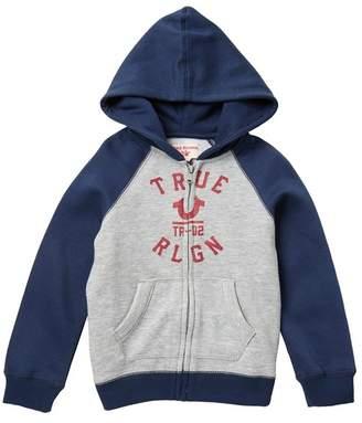 True Religion Raglan Sleeve Hoodie (Little Boys)