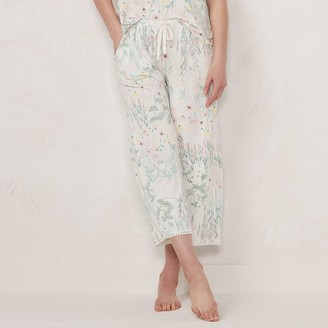 Lauren Conrad Women's Cropped Pajama Pants