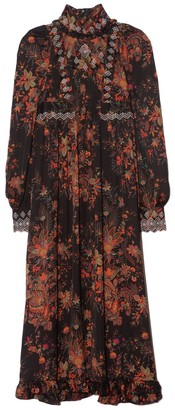 Paco Rabanne Floral Printed Gown in Saffron Paisley