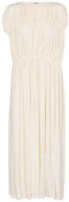 Jil Sander Pleated midi dress