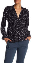 Lucky Brand Printed Frill Top