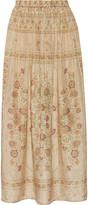 Mes Demoiselles Polka Printed Silk Maxi Skirt - Neutral