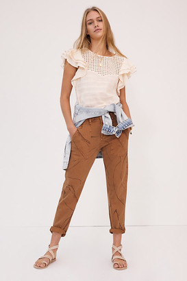 Pilcro And The Letterpress Pilcro Marbled High-Rise Straight Jeans By in Assorted Size 25