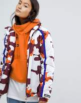 Ellesse High Neck Coat In Camo