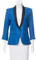 Smythe Structured Shawl Collar Blazer