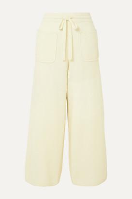 Eres Futile Cashmere Wide-leg Pants - Pastel yellow