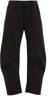Nili Lotan Emerson Wide-leg Stretch-cotton Twill Trousers - Womens - Black