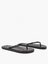 Rick Owens Black Rubber Flip Flops