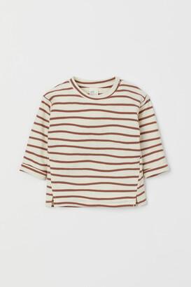 H&M Striped cotton jersey top