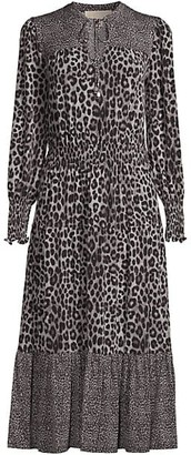MICHAEL Michael Kors Ellip Contrast Printed Dress
