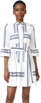 Derek Lam 10 Crosby Button Down Ruffled Hem Shirtdress