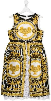 Versace TEEN Barocco print dress