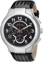 Philip Stein Teslar Men's 45-SCRBK-BB Round Analog Display Japanese Quartz Black Watch