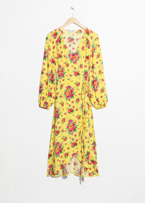 And other stories Ruffled Wrap Dress