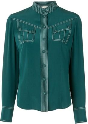 Zimmermann Contrast Stitch Utility Shirt