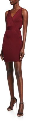 Herve Leger Bandage-Knit V-Neck Mini Dress
