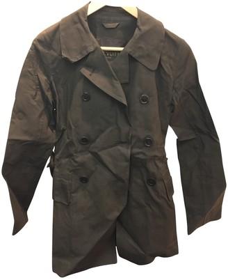 Louis Vuitton Brown Cotton Trench Coat for Women