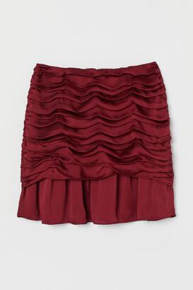 H&M Draped Skirt - Red