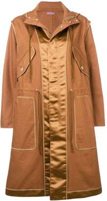 Sueundercover Camel Hooded Raincoat