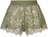 Puma sheer lace mini shorts - women - Cotton/Nylon - XS