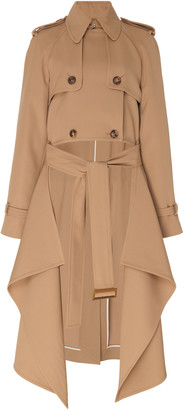 Michael Kors Draped Wool-Gabardine Trench Coat