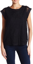 Joie Virginia Lace Cap Sleeve Shirt