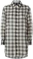 Lorena Antoniazzi Oversized Check Shirt