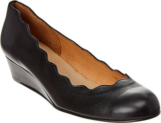 French Sole Dickens Leather Wedge