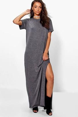 boohoo Tall Delila Split Side T-Shirt Maxi Dress