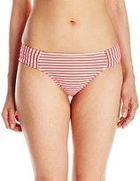 Seafolly Women's Riviera Stripe Ruched Side Retro Bikini Bottom