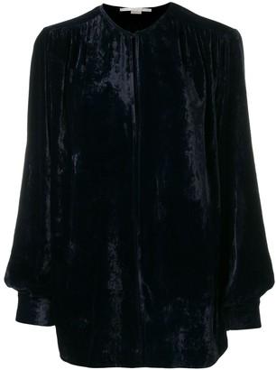 Stella McCartney velvet keyhole blouse
