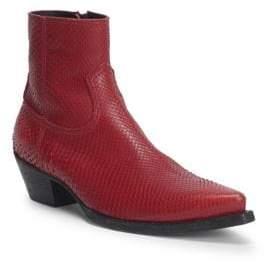 Saint Laurent Lukas Python Western Ankle Boots