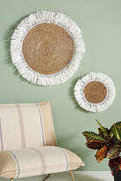 Anthropologie Fringed Basket Wall Art