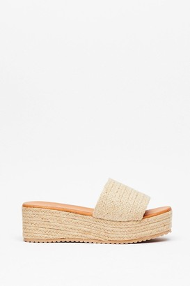 Nasty Gal Womens You're a Natural Woven Wedge Sandals