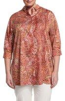 Marina Rinaldi Fascia Paisley-Print Tunic, Plus Size