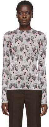 Paco Rabanne Silver Lurex Jacquard Long Sleeve T-Shirt