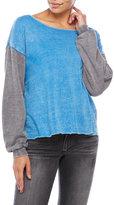 Ocean Drive Color Block Burnout Sweatshirt