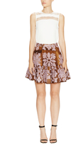 Cynthia Rowley Linen Ruffle Hem Skirt