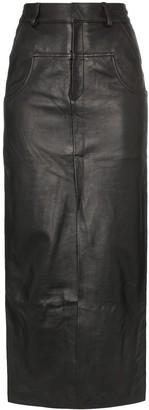 Markoo Long-Line Slit-Front Skirt
