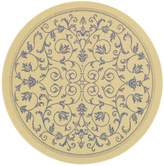 """Safavieh Courtyard Collection CY2098-3101 and Blue Indoor/ Outdoor Round Area Rug, 7 feet 10 inches in Diameter (7'10"""" Diameter)"""
